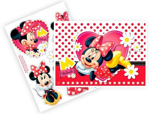 Kit Decorativo Minnie Vermelha