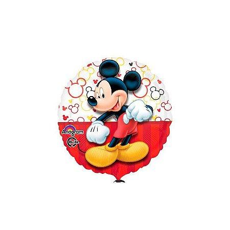 """Balão Metalizado Mickey Vermelho 18"""""""