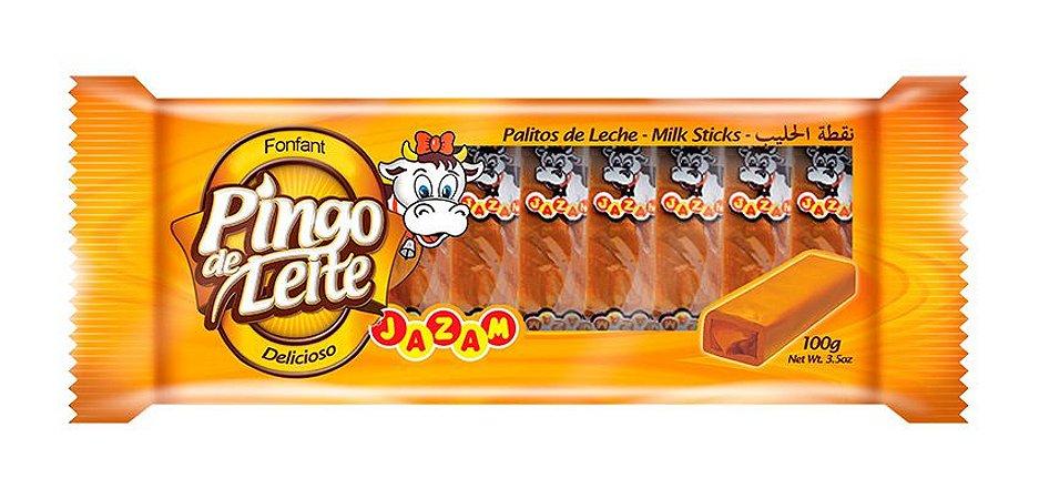 Pingo de Leite Jazam 100g - 10 Unidades