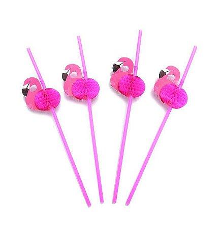Canudo Flamingo 12 Unidades