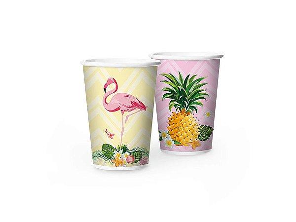 Copo Papel Flamingo 8 Unidades