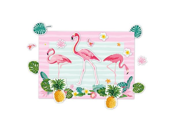 Kit Decorativo Flamingo