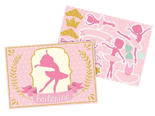 Kit Decorativo Apliques Bailarina