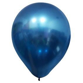 """Balão Alumínio Azul 9"""" 25 Unidades"""