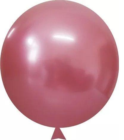 """Balão Alumínio Rose 9"""" 25 Unidades"""