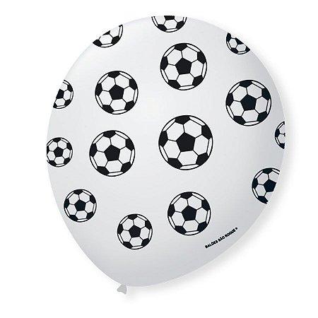 Balão Tema Bola de Futebol 25 Unidades