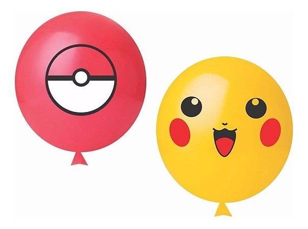 Balão Tema Happy Pokemon 25 Unidades