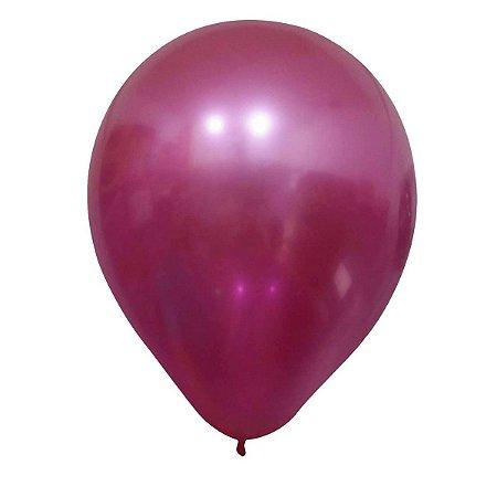 """Balão Alumínio Pink 9"""" 25 Unidades"""