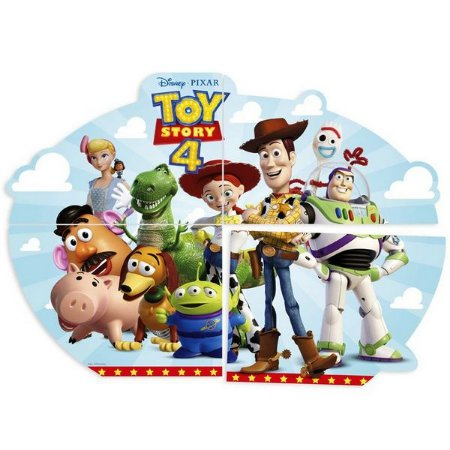 Painel 4 Lâminas Toy Story 4 1 Unidade