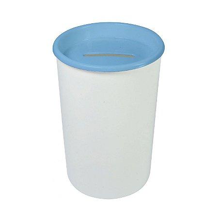 Cofre Plástico Color Branco c/ Azul Bebê 6 Unidades