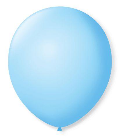 Balão SR Nº7 Azul Baby 50 Unidades