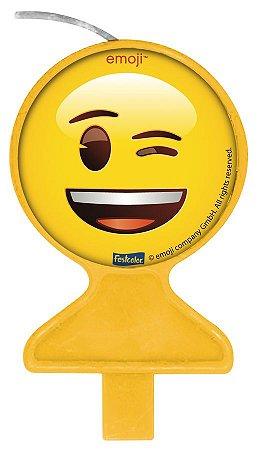 Vela Plana Emoji Festcolor - 1 Unidade