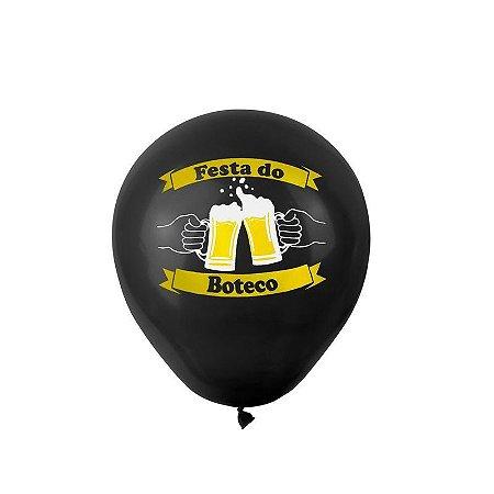 """Balão de Festa Tema Boteco 9"""" 25 Unidades"""