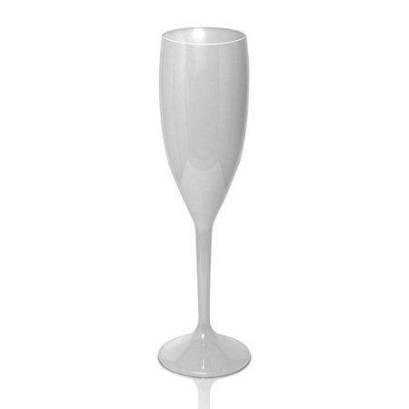 Taça de Champanhe Acrílico Branco - 1 Unidade