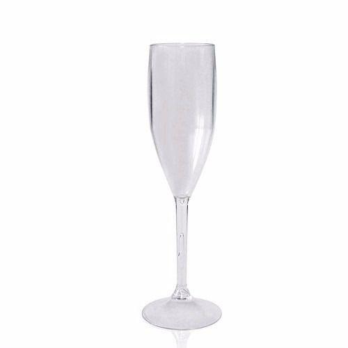 Taça de Champanhe Acrílico Transparente - 1 Unidade