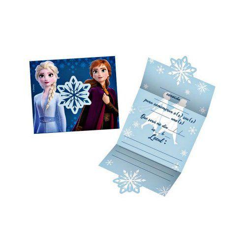 Convite Festa Frozen 2 Regina - 8 Unidades