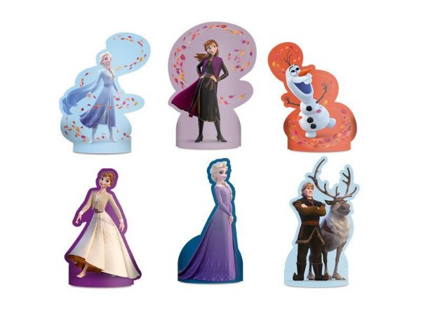 Decoração de Mesa Frozen 2 Regina - 8 Unidades