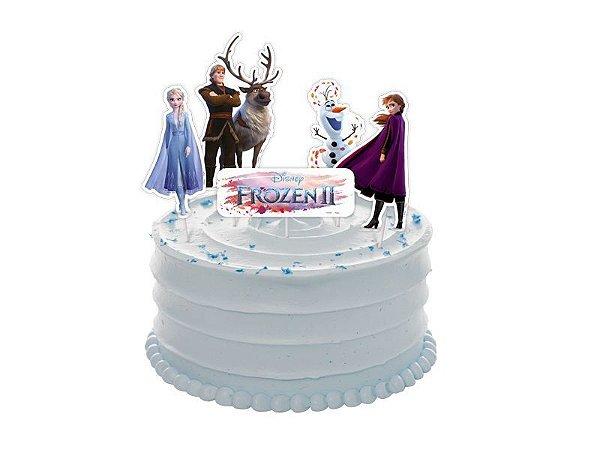 Topper de Bolo Frozen 2 Regina - 5 Unidades