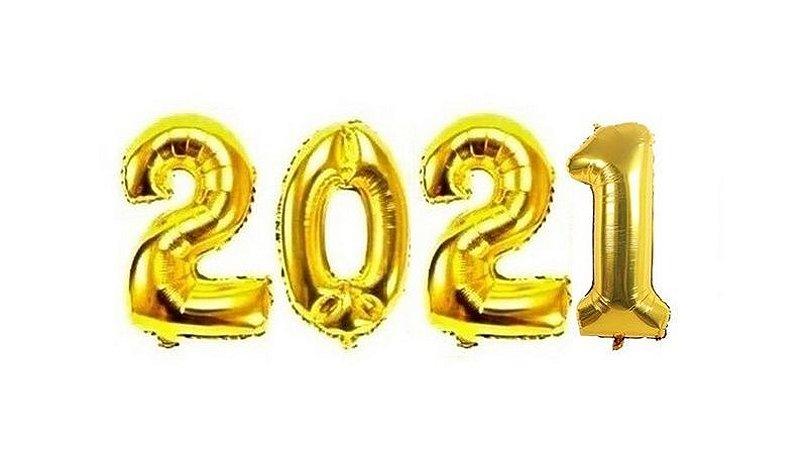 KIT BALAO 2021 DOURADO 40CM