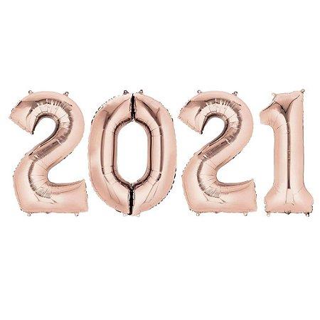 KIT BALAO 2021 ROSE GOLD 70CM