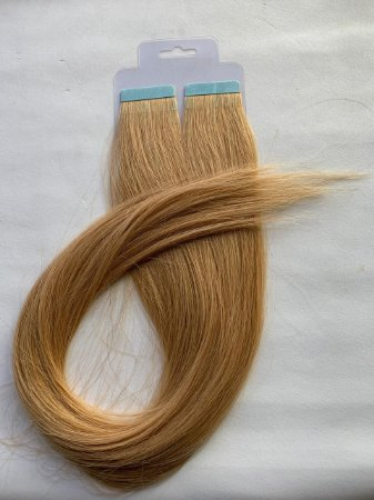 Mega hair fita adesiva #27 - 20 fitas - 50cm cabelo humano