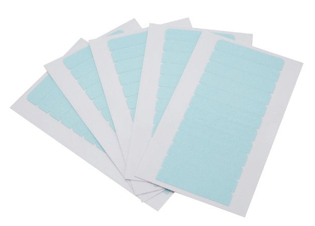 Fita adesiva alemã dupla face - 4 cm x 0,8 cm – 5 cartelas – azul