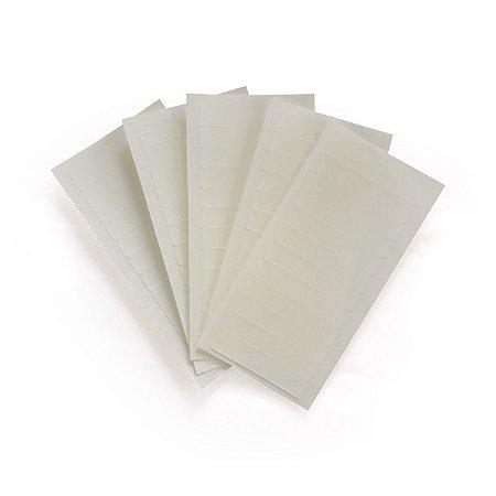 Fita adesiva monoface - 4 cm x 0,8 cm – 5 cartelas – transparente
