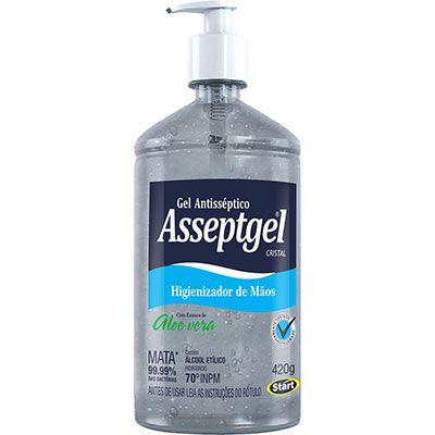 Alcool em gel asseptgel cristal – 420 gr - 01 unidade