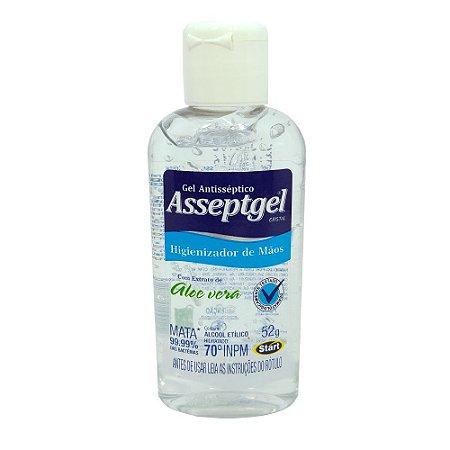 Alcool em gel asseptgel cristal – 52 gr - 01 unidade