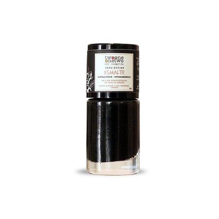 625 - Esmalte Hipoalergênico Vegano Fortalecedor Twoone Onetwo 10ml Black Onyx (REF 1116)
