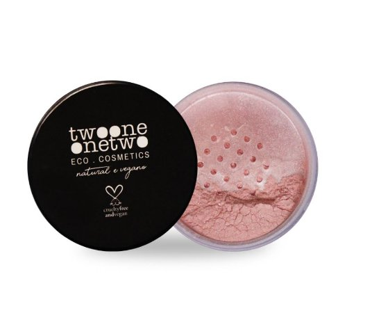 800 - Blush Facial Leite de Coco Natural Vegano Twoone Onetwo 9g Rose