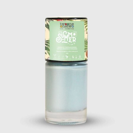 632- Esmalte It´s Summer Time Hipoalergênico Vegano Fortalecedor Twoone Onetwo 10ml Light Blue