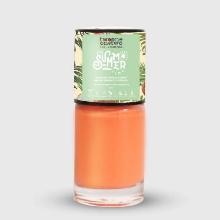 636- Esmalte It´s Summer Time Hipoalergênico Vegano Fortalecedor Twoone Onetwo 10ml Coral Pink
