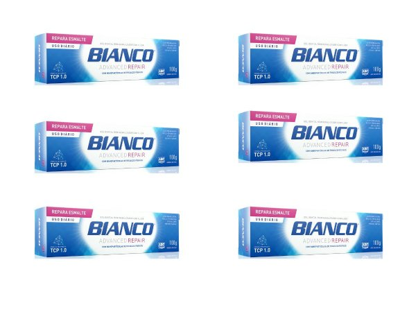 Creme dental BIANCO ADVANCED REPAIR 100 gramas 6 unidades