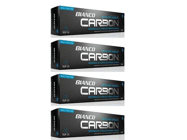 Creme dental BIANCO CARBON CARVÃO ATIVADO 100 gramas 4 unidades