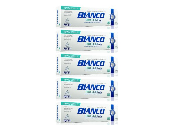 Creme dental BIANCO PRO CLINICAL 100 gramas 5 unidades