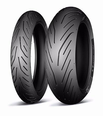 Pneu Michelin Pilot Power 3 120/70R17 e 180/55R17 - (Par)