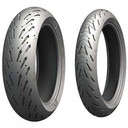 Pneu Michelin Pilot Road 5 120/70zr17 58w e 190/55zr17 75w Par