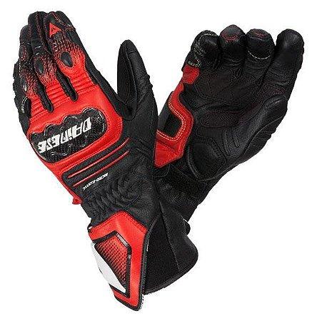 Luva Dainese Carbon Cover ST - Vermelha/Preto