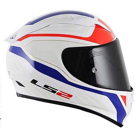 Capacete LS2 FF323 Arrow Burner Branco/Verm/Azul