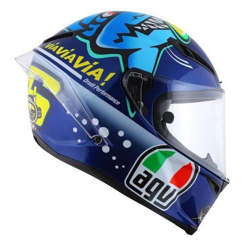 Capacete AGV Corsa Misano 2015 Réplica Valentino Rossi Azul