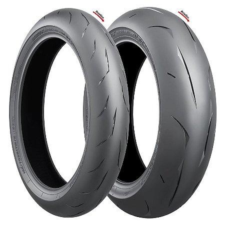 Pneu Bridgestone RS10 120/70R17 e 200/55R17 (Par)
