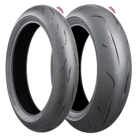 Pneu Bridgestone RS10 120/70R17 e 180/55R17 (Par)