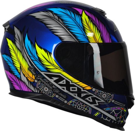 Capacete Axxis Eagle Dreams Gloss -Azul