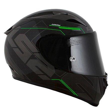 Capacete LS2 FF323 Arrow Techno - Preto/Verde