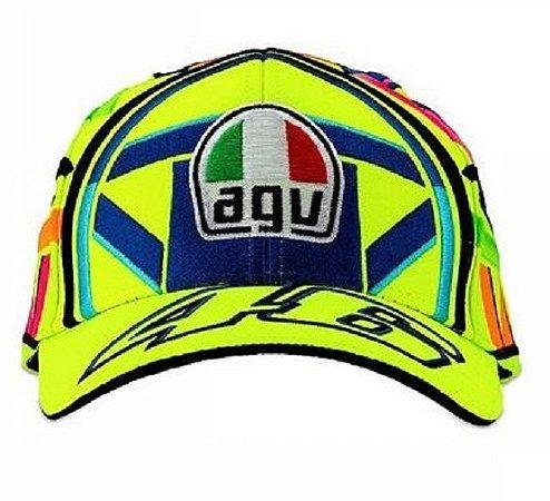 Boné Vr46 Helmet Amarelo