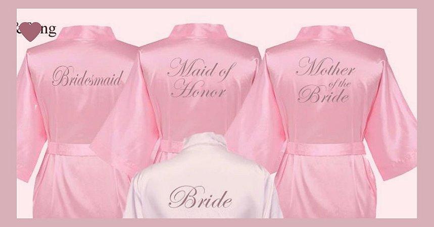 Kit 4 robes bordado