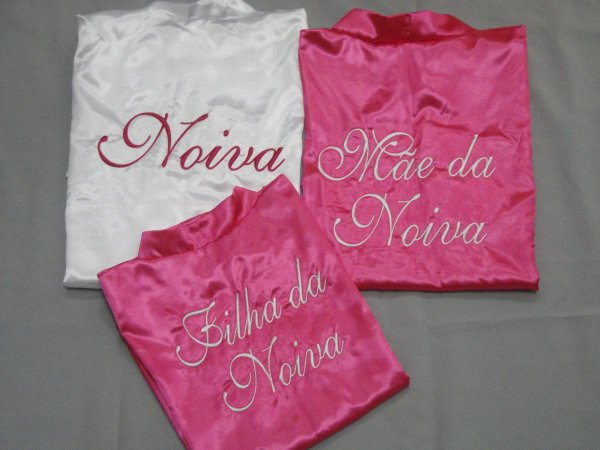 Kit 3 robe do dia da noiva