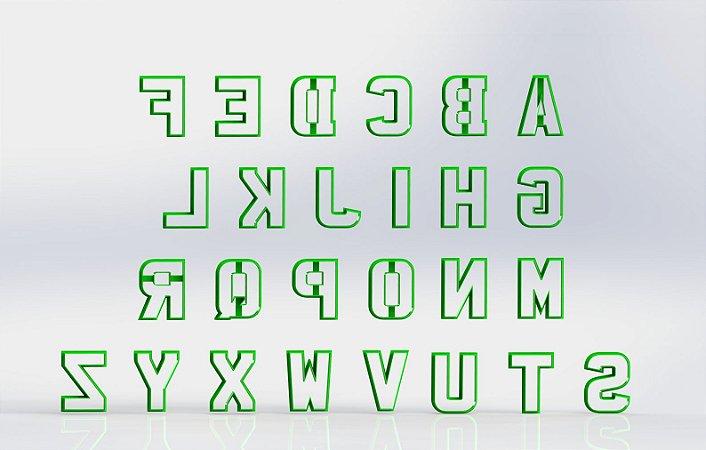 Cortador UNIDADE (Alfabeto para DONUTS)  MODELO SLIM - Letra