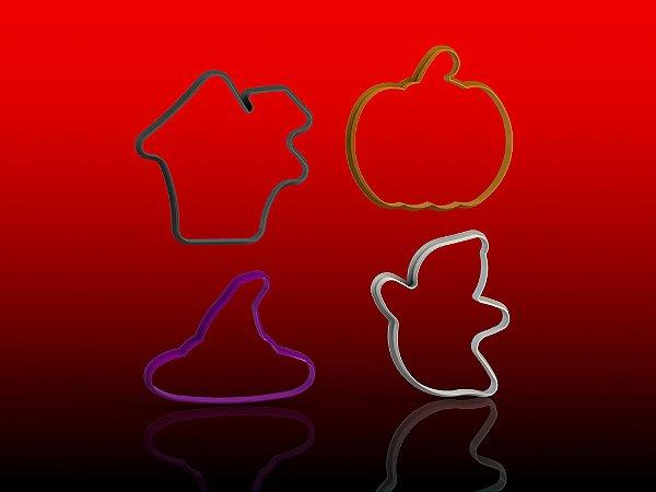 Cortador Kit Halloween com 4 modelos